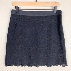 J. Crew Factory Black Size 2 Lace Skirt